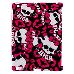 Mattel Monster Pattern Apple Ipad 3/4 Hardshell Case (compatible With Smart Cover)