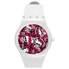 Mattel Monster Pattern Round Plastic Sport Watch (m)