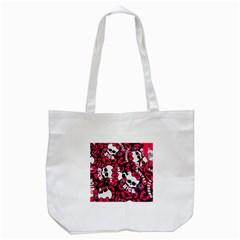 Mattel Monster Pattern Tote Bag (White)