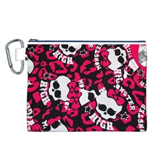 Mattel Monster Pattern Canvas Cosmetic Bag (L)