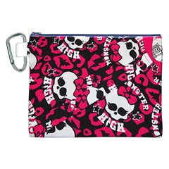 Mattel Monster Pattern Canvas Cosmetic Bag (xxl)