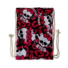 Mattel Monster Pattern Drawstring Bag (small)