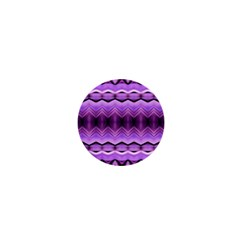 Purple Pink Zig Zag Pattern 1  Mini Buttons