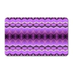 Purple Pink Zig Zag Pattern Magnet (Rectangular)