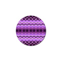 Purple Pink Zig Zag Pattern Golf Ball Marker