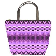 Purple Pink Zig Zag Pattern Bucket Bags