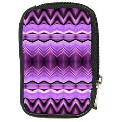 Purple Pink Zig Zag Pattern Compact Camera Cases