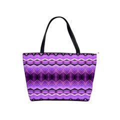 Purple Pink Zig Zag Pattern Shoulder Handbags