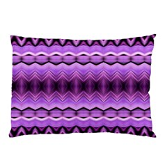 Purple Pink Zig Zag Pattern Pillow Case (two Sides)