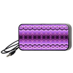 Purple Pink Zig Zag Pattern Portable Speaker (black)