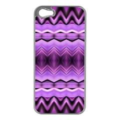 Purple Pink Zig Zag Pattern Apple iPhone 5 Case (Silver)