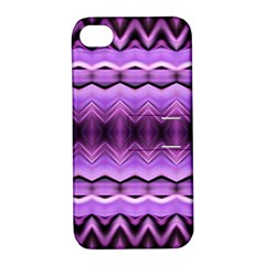 Purple Pink Zig Zag Pattern Apple iPhone 4/4S Hardshell Case with Stand