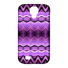 Purple Pink Zig Zag Pattern Samsung Galaxy S4 Classic Hardshell Case (PC+Silicone)
