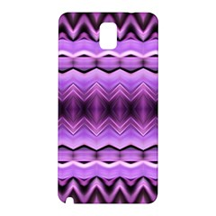 Purple Pink Zig Zag Pattern Samsung Galaxy Note 3 N9005 Hardshell Back Case