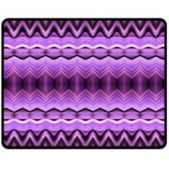 Purple Pink Zig Zag Pattern Double Sided Fleece Blanket (medium)