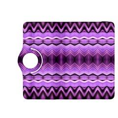 Purple Pink Zig Zag Pattern Kindle Fire Hdx 8 9  Flip 360 Case