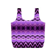 Purple Pink Zig Zag Pattern Full Print Recycle Bags (s)