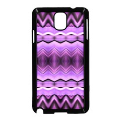 Purple Pink Zig Zag Pattern Samsung Galaxy Note 3 Neo Hardshell Case (Black)