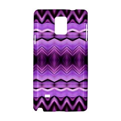 Purple Pink Zig Zag Pattern Samsung Galaxy Note 4 Hardshell Case