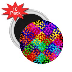 3d Fsm Tessellation Pattern 2 25  Magnets (10 Pack)