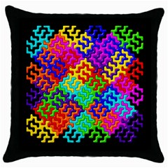 3d Fsm Tessellation Pattern Throw Pillow Case (Black)
