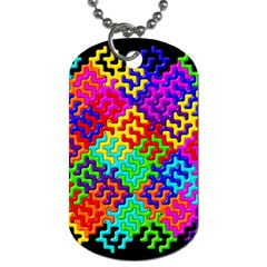3d Fsm Tessellation Pattern Dog Tag (One Side)