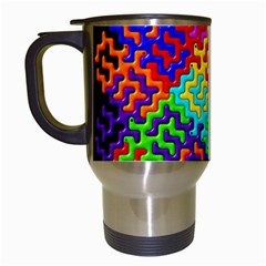 3d Fsm Tessellation Pattern Travel Mugs (White)
