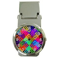 3d Fsm Tessellation Pattern Money Clip Watches
