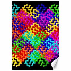 3d Fsm Tessellation Pattern Canvas 12  x 18