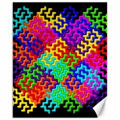 3d Fsm Tessellation Pattern Canvas 16  x 20