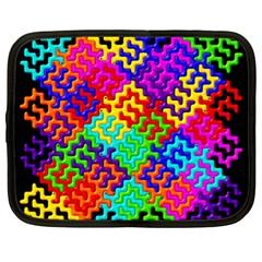 3d Fsm Tessellation Pattern Netbook Case (xl)