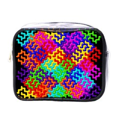 3d Fsm Tessellation Pattern Mini Toiletries Bags
