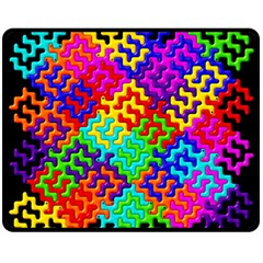 3d Fsm Tessellation Pattern Fleece Blanket (medium)