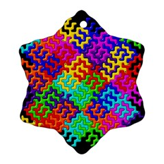 3d Fsm Tessellation Pattern Snowflake Ornament (Two Sides)