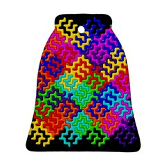 3d Fsm Tessellation Pattern Bell Ornament (Two Sides)
