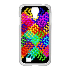 3d Fsm Tessellation Pattern Samsung Galaxy S4 I9500/ I9505 Case (white)
