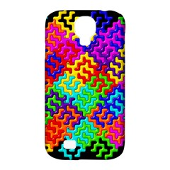 3d Fsm Tessellation Pattern Samsung Galaxy S4 Classic Hardshell Case (PC+Silicone)