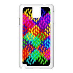3d Fsm Tessellation Pattern Samsung Galaxy Note 3 N9005 Case (White)