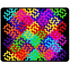 3d Fsm Tessellation Pattern Double Sided Fleece Blanket (medium)