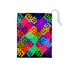 3d Fsm Tessellation Pattern Drawstring Pouches (Medium)