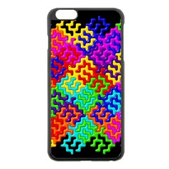3d Fsm Tessellation Pattern Apple iPhone 6 Plus/6S Plus Black Enamel Case
