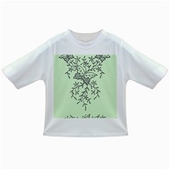 Illustration Of Butterflies And Flowers Ornament On Green Background Infant/Toddler T-Shirts