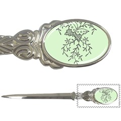 Illustration Of Butterflies And Flowers Ornament On Green Background Letter Openers