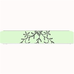 Illustration Of Butterflies And Flowers Ornament On Green Background Small Bar Mats