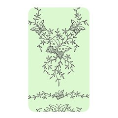 Illustration Of Butterflies And Flowers Ornament On Green Background Memory Card Reader