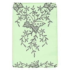 Illustration Of Butterflies And Flowers Ornament On Green Background Flap Covers (s)