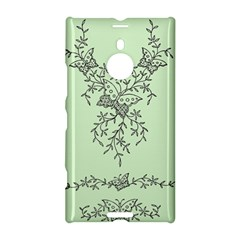 Illustration Of Butterflies And Flowers Ornament On Green Background Nokia Lumia 1520