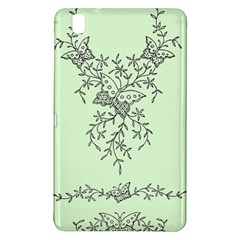 Illustration Of Butterflies And Flowers Ornament On Green Background Samsung Galaxy Tab Pro 8 4 Hardshell Case