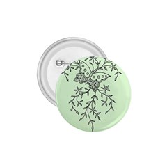 Illustration Of Butterflies And Flowers Ornament On Green Background 1 75  Buttons