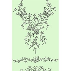 Illustration Of Butterflies And Flowers Ornament On Green Background 5 5  X 8 5  Notebooks